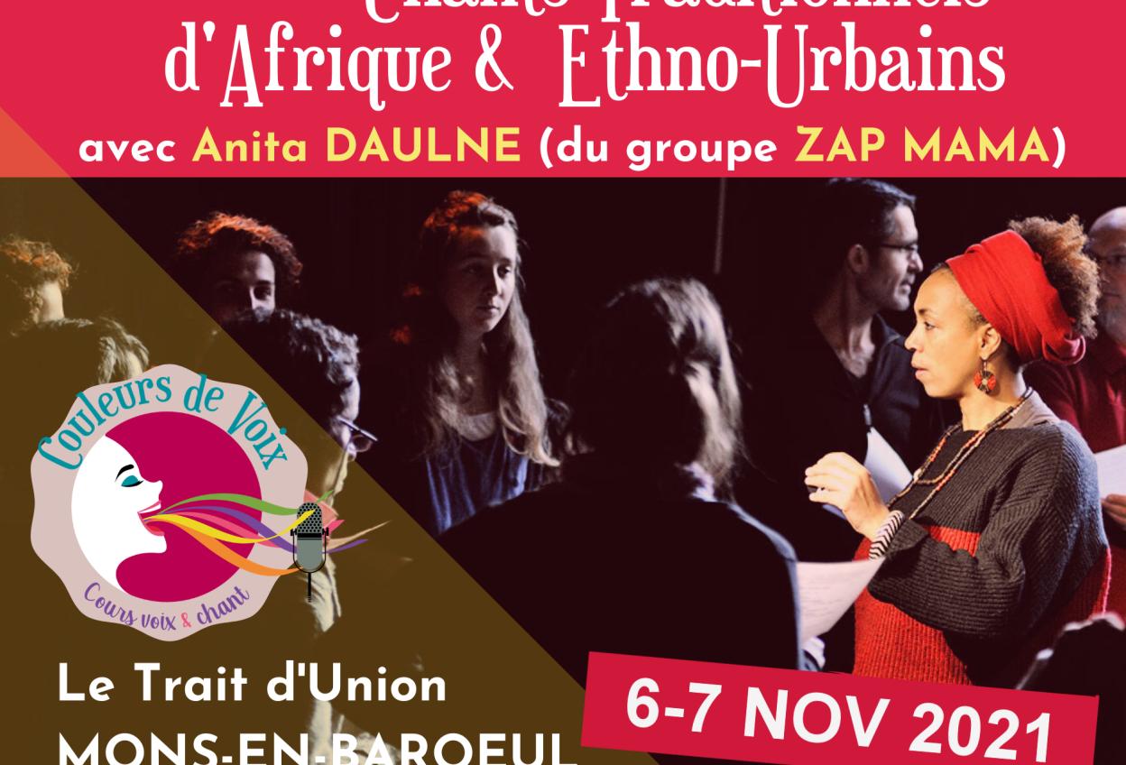 Masterclass - Chants traditionnels d'Afrique et Ethno-Urbains